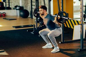 Fireman workout squats